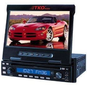 "Tko Audio BH-7180M 7"" LCD Monitor w/ DVD Player"