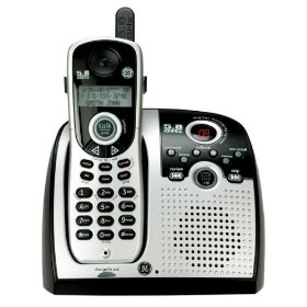 GE Cordless 5.8 GHz Analog 25846EE1 Phone with Call Waiting Caller ID and Digital Answering System