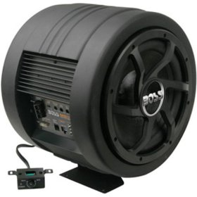 Boss Audio BASS800 10-Inch Amplified Subwoofer with Passive Radiator - Single (Black)