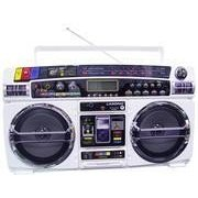 Lasonic i931W Ghetto Blaster with iPod Dock- White