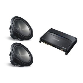 2 KENWOOD KFC-W3012 (12 inch 1200 Watt Subwoofers) & KENWOOD KAC-9104D (Mono Channel Amplifier) PACKAGE DEAL
