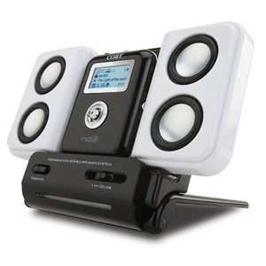 Coby csmp47 speaker for mp3 and ipod players folding design