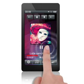 Latte espresso lpespblk4gb black mp3 3inch lcd