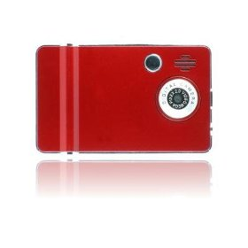 Ematic 4GB Video MP3 Player with 2.4-Inch QVGA Screen, Digital Camera and Video Recorder (Red)