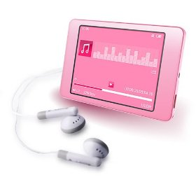 Latte iPearl 8 GB Video MP3 Player with Built-In FM Transmitter (Pink)