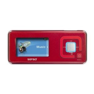 SanDisk Sansa c240 - Digital player / radio - flash 1 GB - WMA, MP3 - red
