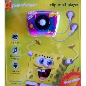 Nickelodeon NPower SpongeBob Squarepants Clip MP3 Player - Purple