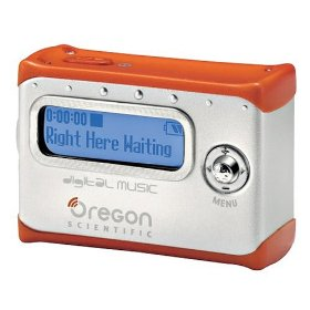 Oregon Scientific MP100/ON128M 128 MB Pendant MP3 Player Orange