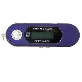 2GB USB MP3 Player w/Voice (Blue)
