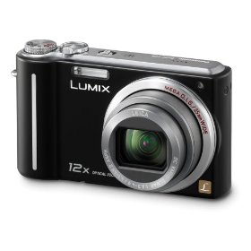 Panasonic Lumix DMC-ZS1 10MP Digital Camera with 12x Wide Angle MEGA Optical Image Stabilized Zoom and 2.7 inch LCD (Black)