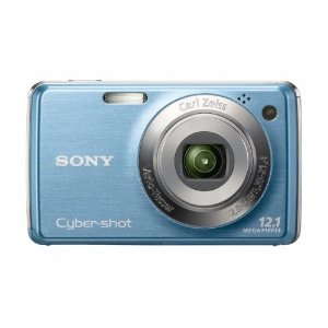Sony Cybershot DSC-W220 12MP Digital Camera with 4x Optical Zoom with Super Steady Shot Image Stabilization (Light Blue)