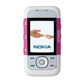 Nokia 5300 XpressMusic Unlocked Phone with Camera, Bluetooth, MicroSD, MP3 Player (White/Purple)