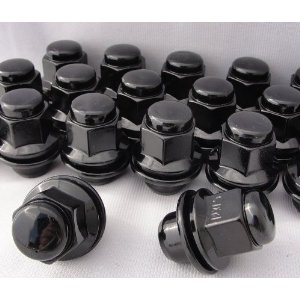 Black Mag Style Lug Nuts 20 Lugs OEM Replacment For Lexus Models