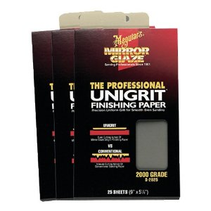 Meguiar's S2025 Unigrit Finishing Paper - 25 Sheets