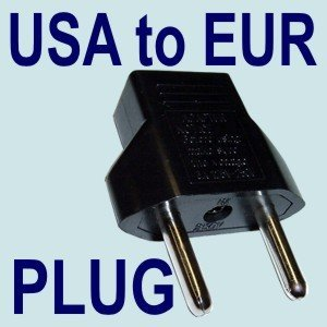 HQRP International USA to EUR (USA to European) Outlet Travel Plug Adapter