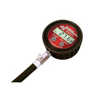 "Longacre Racing Digital Tire Air Pressure Gauge 0-60 PSI with 17"" ultra flex hosew/ Backlight"