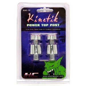 Pair of Brand New Kinetik Khc-tp Silver Alloy Top Posts