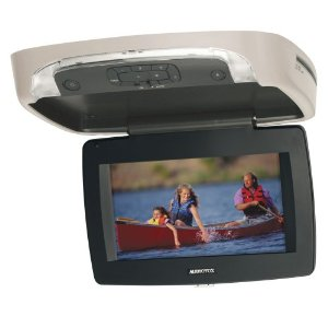 Audiovox VOD85 8.5-Inch LCD Overhead Monitor with Integrated DVD Player (Pewter)