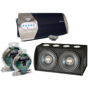 Lanzar Great Amplifier/Subwoofer/Installation Package for Car/Truck/SUV