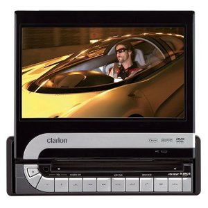 Clarion VRX785BT 7-Inch Single DIN Multimedia Station with Fully Motorized Touch Panel Control with USB Terminal iPod and HDD Navigation Ready