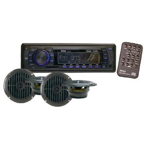 Pyle PLMRKT14BK In-Dash Marine AM/FM PLL Tuning Radio with USB/SD/MMC Reader