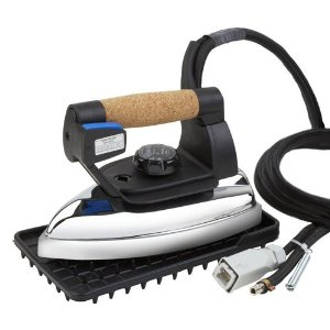Reliable Professional Steam Iron with 32 Steam Chambers and Silicon Iron Rest