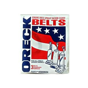 Genuine Oreck XL� Upright Vacuum Replacement Belts -3 Belts Per Package