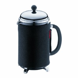 Bodum Chambord 34-Ounce 8-Cup French Press Coffee Maker with Insulating Coffee Coat