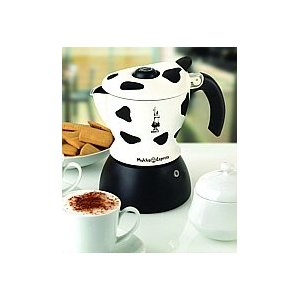 Bialetti 2-Cup Mukka Express Stovetop Cappuccino Maker - Cow Print