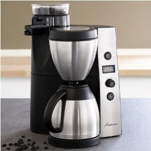 Capresso 45505 Coffee Maker, CoffeeTEAM Thermal with Burr Grinder