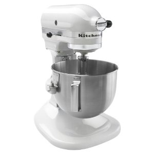 KitchenAid K4SSWH 4 -1/2 Quart Bowl Lift Stand Mixer, White