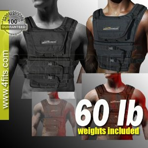 NEW! ZFO-60LBS Adjustable Weighted Vest (WEIGHTS INCLUDED)