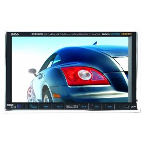 Boss BV9560B 7-Inch Double DIN Motorized Widescreen Touchscreen In-Dash TFT Monitor/DVD/MP3/CD Combo Receiver with Built-in Bluetooth