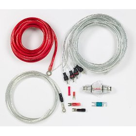 StreetWires Power Station PSK08Ri 8-gauge amplifier wiring kit with patch cable -- red power/silver ground