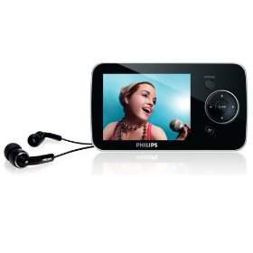 Philips SA52 8 GB Flash Video MP3 Player with FM Radio and 2.8-Inch Color Screen (Black)