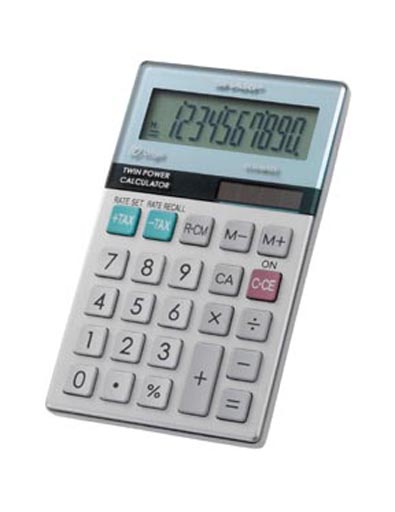 Sharp el377mb 10 digit calculator with punctuation