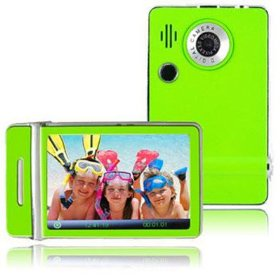 Ematic 3.0 Inches Touch Screen Color MP3 Video Player W/Built-in 5MP Digital Camera with Video Recording, FM Radio & Speaker 8 GB GREEN