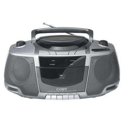 Coby cxcd248 boombox cd cassette recorder stereo