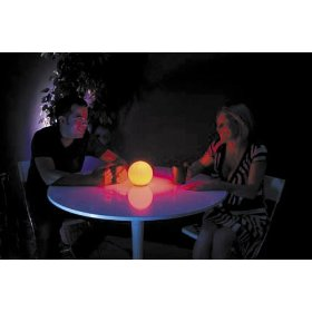 American DJ LED Color Ball LED Powered Color Changing Frosted Ball With Remote
