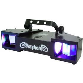 Brand New Chauvet Mayhem 7 Channel DMX Dual Rotating Led Scanner Light