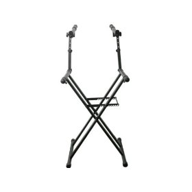 Odyssey LTBXS2 Two Tier X-Stand: Heavy-Duty Double Braced Dj Coffin / Keyboard Stand