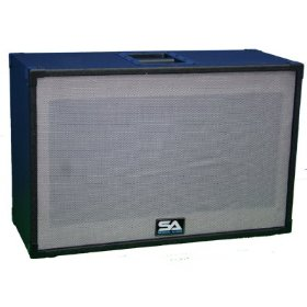 Empty 212 GUITAR SPEAKER CABINET Vintage Style with Tolex and Silver/Gray Cloth Grill - 2x12 PA/DJ PRO AUDIO (No Speakers)