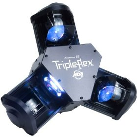 American DJ Triple Flex LED Powered 3 Head Centerpiece Light Effect