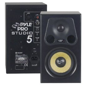 Pyle-Pro - 5.25'' 300 Watt 2-Way Bass Reflex Amplified Studio Monitor Speaker