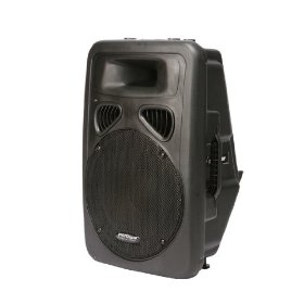 Patron PSA2500P 1600W Max, 15-Inch DJ Speaker with Built-In Amplifier and 5-Band EQ