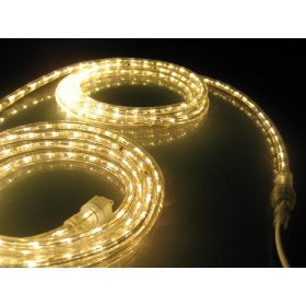 50Ft Rope Lights; Soft White LED Rope Light Kit; 1.0