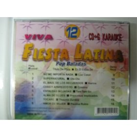 FIESTA LATINA #12 8x8 Multiplex Karaoke CDG W/ Spanish Guide Vocals