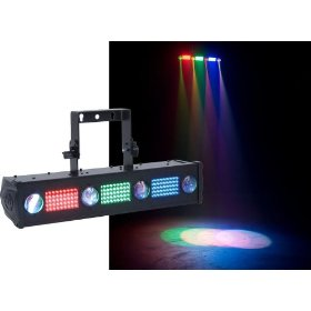 American DJ Fusion Tri Bar FX LED Color Changing LED Pinspots And LED Pixels Clusters