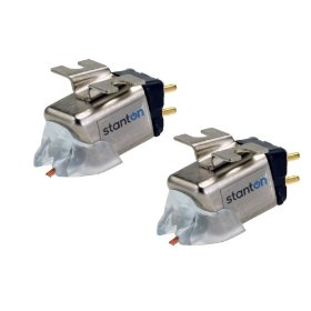Stanton 520.V3 H4 Spherical DJ Turntablist Turntable Cartridges - Twin Pack Mounted on H4S Shells
