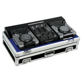 Marathon Flight Ready Case MA-CDJ10V2 Coffin Holds 2X Small Format CD Players: Pioneer CDJ-400 + 10-Inch Mixer: Pioneer DJm400